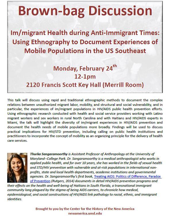 Talk: Im/migrant Health during Anti-Immigrant Times – Using