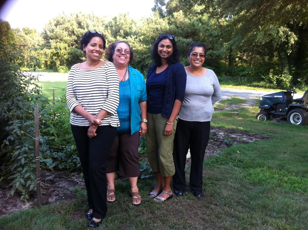 Emilia, Leila, me, and Maria